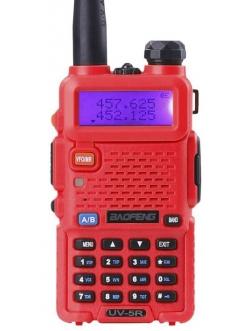 Рация Baofeng UV-5R красный цвет