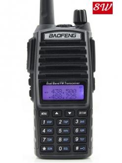 BAOFENG UV-82  8Вт - Профессиональная радиостанция с кнопкой на 2 канала